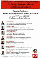 Réunion publique 26 février à la Bourse du Travail à Cahors