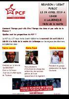 Pierre Lacaze le 24 avril à Lalbenque