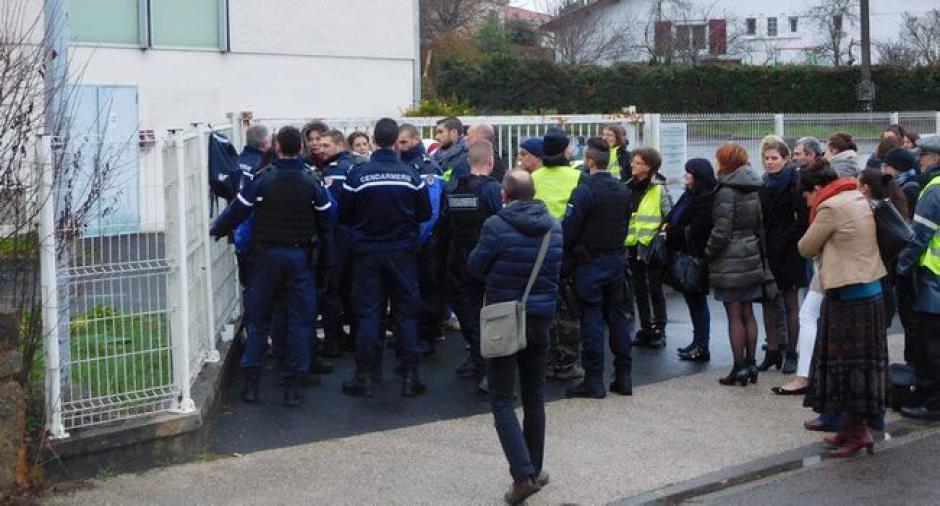 Figeac : face-à-face entre gilets jaunes et gendarmes // 2018.12.18