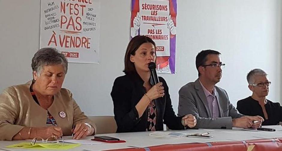 Elsa Faucillon, l'invitée du PCF figeacois - 2018.05.26
