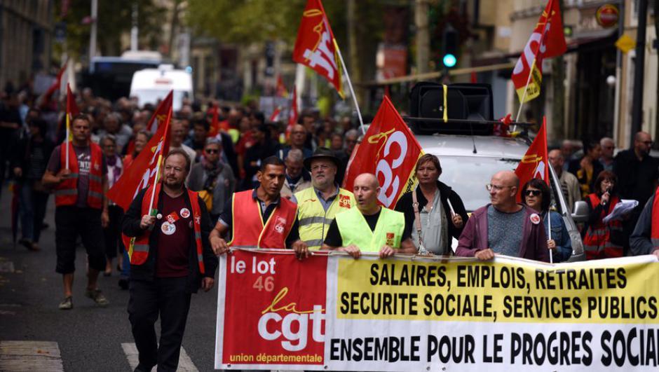 Un jeudi de manifs et de grèves : des cortèges à Cahors, Figeac et Biars // 2019.12.05