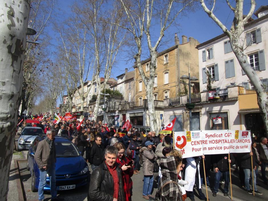Plus de 2000 manifestants ce 22 mars dans le Lot