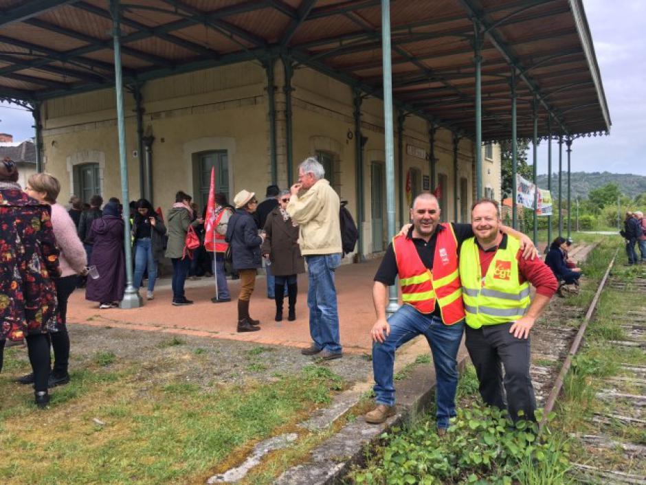 Les manifestants lotois du 1er mai sur la même ligne (Cahors-Capdenac)