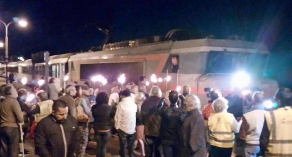Manifestation : ils déplorent la fin du train de nuit - 2017.09.04