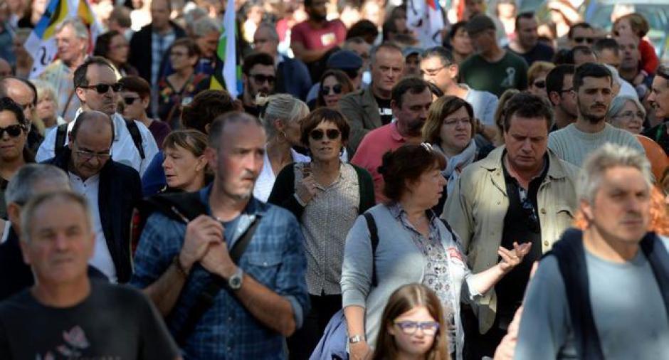 1 400 fonctionnaires en colère dans la rue - 2017.10.11