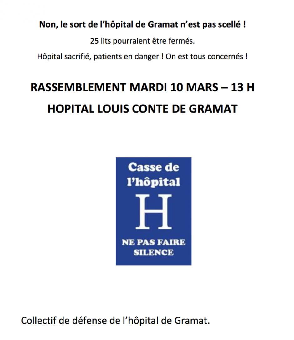 Le collectif de défense de l'hôpital de Gramat interpelle les candidats aux municipales // 2020.03.08