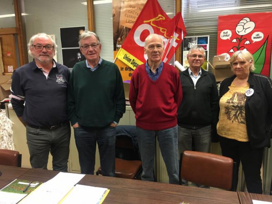 Cahors : Les syndicats de retraités à nouveau dans la rue // 2019.04.09