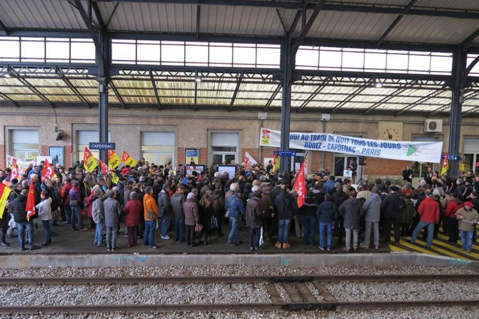 Le PCF 46 solidaire des cheminots en grève le 8 février !