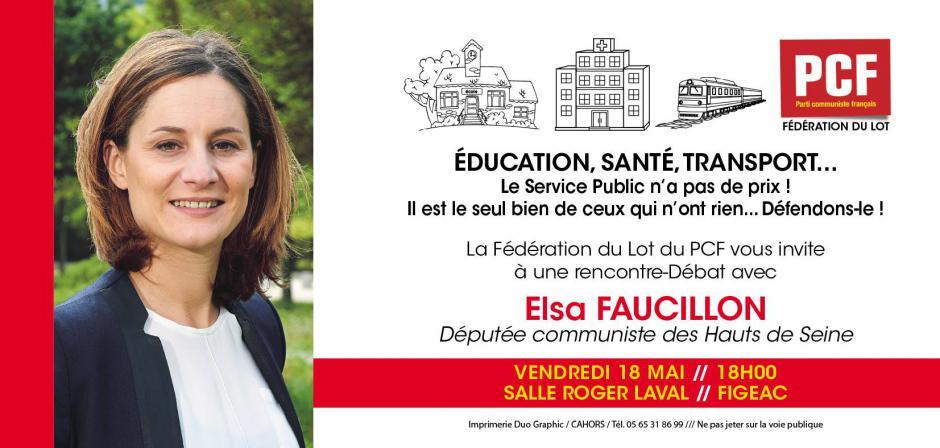Elsa Faucillon le 18 mai 2018 à Figeac !