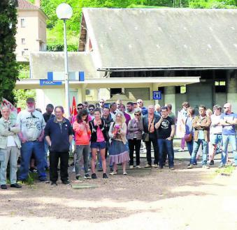 Plus de 60 cheminots grévistes en gare de Figeac - 2018.04.25