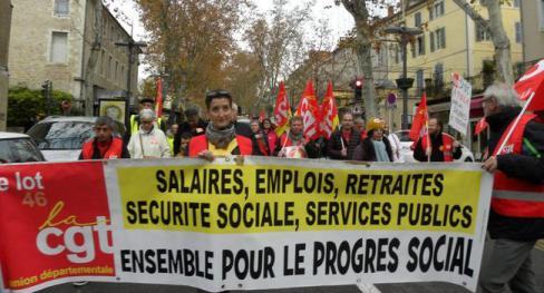 200 manifestants à l'appel de la CGT // 2018/12/02