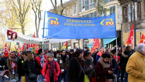 4500 manifestants à Cahors déterminés à