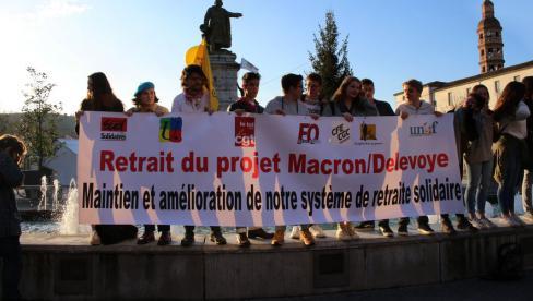 Les lycéens dans la rue avec les salariés et les retraités // 2019.12.06