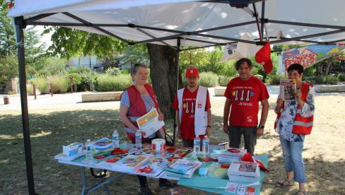Rocamadour. La CGT informe les saisonniers // 2020.08.01