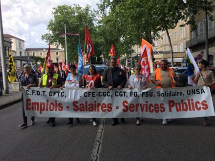 Cahors-Figeac : Les agents de la fonction publique dans la rue - 2018.05.22
