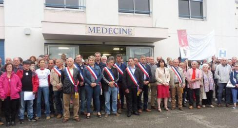 Le collectif de défense de l'hôpital en appelle aux élus // 2018.07.12