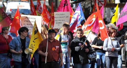 650 personnes dans la rue contre la loi Travail - 2017.09.22